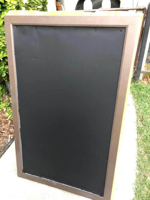 DIY A Frame, Portable Chalkboard Sign Tutorial